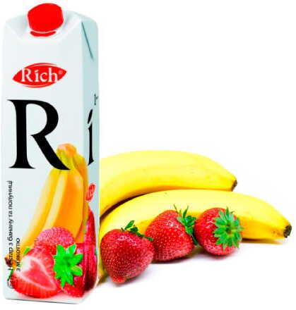 Сік банан-полуниця *Rich 1л